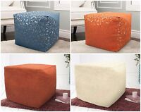 Cube Square Fully Filled Jacquard Suede Children's Bean Bag Outdoor Seat Pouffe