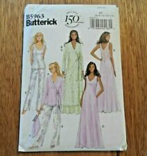 Butterick Pattern B 5963 for Misses Robe Top Gown Pants Bag Sizes 6 14