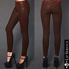 KILL CITY LIP SERVICE WAX PU COATED FAUX LEATHER SKINNY PANTS JEANS GOTH EMO 27