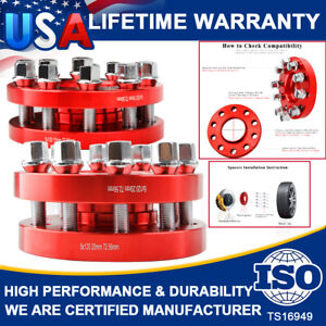 Hub Centric Wheel Spacers Staggered Kit 5x120(2) 15mm &(2) 20mm W/ Bolts For BMW