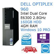 Dell Optiplex 960 SFF PC Intel Dual Core 2.8GHz 4GB RAM Windows 10 Pro Student 9