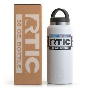 RTIC 36oz Bottle, White Matte,Stainless Steel,Vacuum Insulated