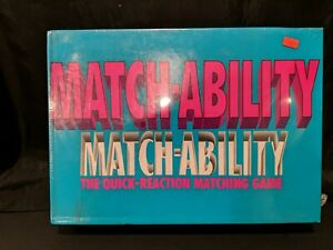 Match-Ability The Quick Reaction Matching Game Board Game 1990 by Cadaco.NEW