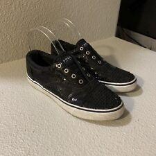 black glitter sperrys