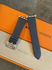 Apple Watch Hermes 6 Bleu Saphir Swift Leather Band 44MM