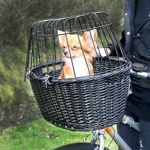 Dog Bicycle Basket Carrier Bike Small Travel Cat Puppy Pet Safety Bag Wire Mesh