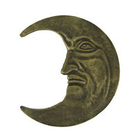 Zeckos Antique Bronze Finished Cast Iron Crescent Moon Face Wall Hanging