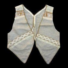 GILET casual  lino ecrù decorazioni corda smanicato giacca golf camicia gonna