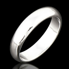 Smooth 18K White Gold Filled Mens Unisex Fahsion Band Ring,Size 9