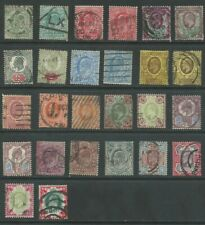 GB KEVII 1902-1910 (26) set with shades good used (5053)