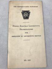 Pennsylvania Railroad Diesel-Electric Locomotive Examinations Book 12-B 1958