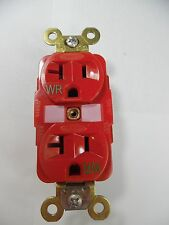 RECEPTACLE RED HUBBELL # HBL5362RWR WEATHER RESISTANT NEW IN BOX