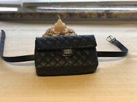 NEW CHANEL 2.55 Reissue Black Caviar Waist Bum Bag Fanny Pack Mini Clutch
