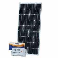 160W 12V solar charging kit with 10A controller 5m cable for camper caravan boat