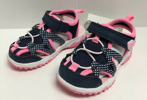 Carter's Closed Toe Sandal Navy and Pink Toddler Sz 6