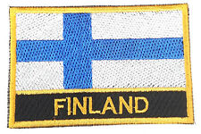 Finland Embroidered Sew or Iron on Patch Badge