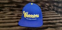 Golden State Warriors Snap Back Cap Hat Embroidered Adjustable Flat Leather Bill
