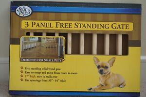 3 panel free standing pet gate