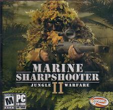 MARINE SHARPSHOOTER II 2 Jungle Warfare PC Game NEW JC
