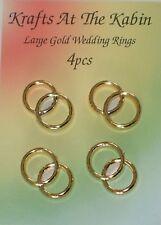 4 Oro Doppio Anello Nuziale Abbellimenti per le schede e artigianato