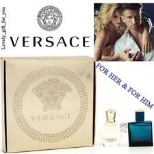 VERSACE EROS Pour Femme Parfum & EROS Toilette For Him Mini Set 2 x 5ml /.17 Oz