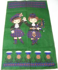 Kiltie by Linanne Linen Tea Towel Vintage Scottish Highland Dancers Scotland