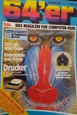 64er (64´er) 09/86 September 1986 C 64 Commodore (Drucker,  1551, Matrixdrucker)