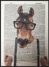 imprimé cheval Vintage Dictionary PAGE décoration murale Image Hipster