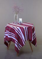 Decorative Tablecloth Ukrainian ornament Wedding decor White red black