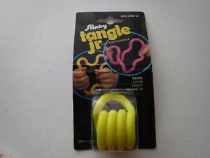 Vintage 1982 Slinky tangle jr The Toy Doodle Yellow Sealed In Pkg