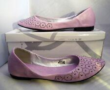 New Ladies Marwan Closed Toe Flat Heel Lilac Shoe With Gems On toes Uk 3 EU 36