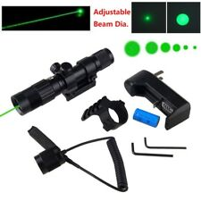 Tactical 1mW Green Laser Sight Hunting Picatinny 20mm Rail 532nm+16340 Battery
