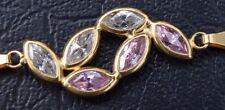 18ct Yellow Gold Pink & White Sapphire Bracelet