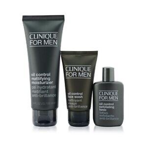 Clinique Great Skin For Men Oil Control 3-Pieces Set : Face Wash 50ml +  3pcs