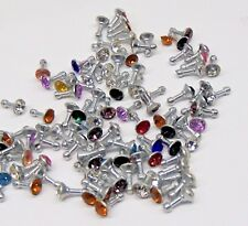 Wholesale Lot of 100 Cell Phone Dust Plug Cover w/ Rhinestone 3.5mm Gifts Resale
