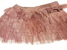 euc Kelly's Kids brown tulle tutu skirt baby girl 18 m free ship USA