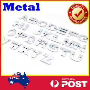 Capital Letter  car sticker alphabet Word Silver 3D Chrome digital badge DIY Hot
