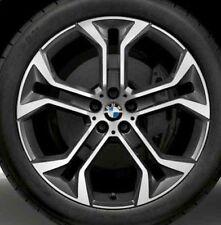 "BMW OEM G06 X6 G05 X5 G01 X3 G02 X4 Style 744 Orbit Grey Y-Spoke 21"" Wheel Set"