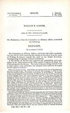 Cmte on Military Affairs- William R. Garner re: removal of charge of desertion