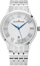Александр серебряный циферблат из нержавеющей стали швейцарский Slim 9.5 мм мужские платье часы