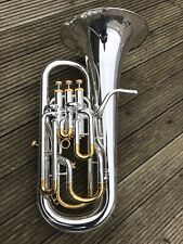 Conn Selmer 300EHSP 4 Valve Compensating Bb Euphonium-Stunning Silver Gold Trim