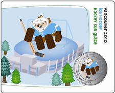 2010 50 cent coin Vancouver Mascots Collector Cards: Quatchi Ice Hockey 2/12