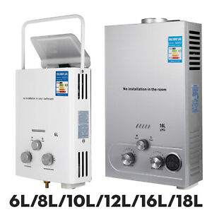 Hot Water Heater On Demand Shower Head Propane Gas LPG Instant Boiler