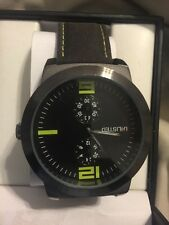 Unlisted Mens Gun Metal Watch Faux Leather Band 10024661