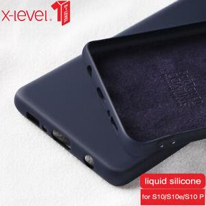 For Samsung Galaxy S10 Note 10 Plus S10e Case Liquid Silicone Rubber Smooth Soft