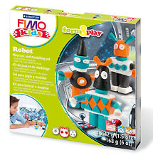 New FIMO Kids Form & Play Set Robots Modelling Jewellery Craft Art Fun