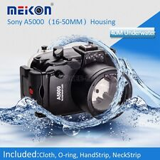 40M Underwater Waterproof Housing Case Bag for Sony A5000 16-50mm Lens Camera