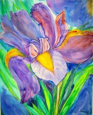 IRIS, Original Watercolor Painting