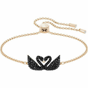 Swarovski Women's Bracelet Iconic Swan Rose Gold Plated Adjustable 5344132