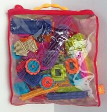 Bristle Blocks 52 pc Stakadoos Vibrant Colors Shapes New B Surprised Carry Tote